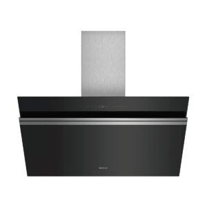 Campana SIEMENS LC91KWW60 decorativa de pared, 90 cm, Cristal negro
