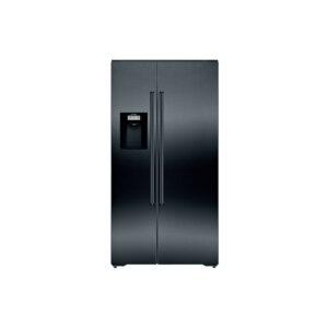 Frigorífico americano SIEMENS KA92DHXFP, 177.8 x 91.2 cm, Black stainless steel, iQ700.